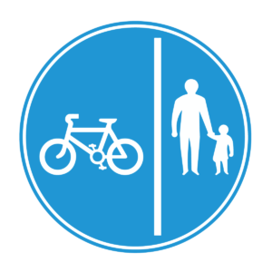 Cycles Keep Left Blue Sign