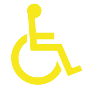 Yellow Disabled Sign