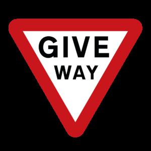 Give Way Warning Sign