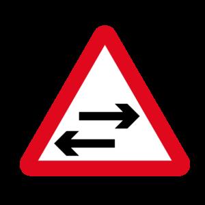 Two Way Traffic Warning Sign